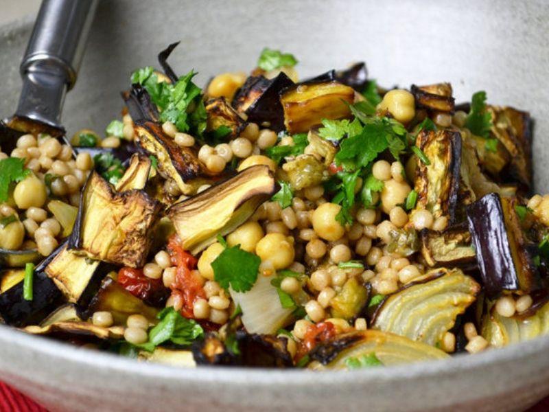 Giant couscous con ceci e verdure ricette vegane facili for Ricette facili veloci