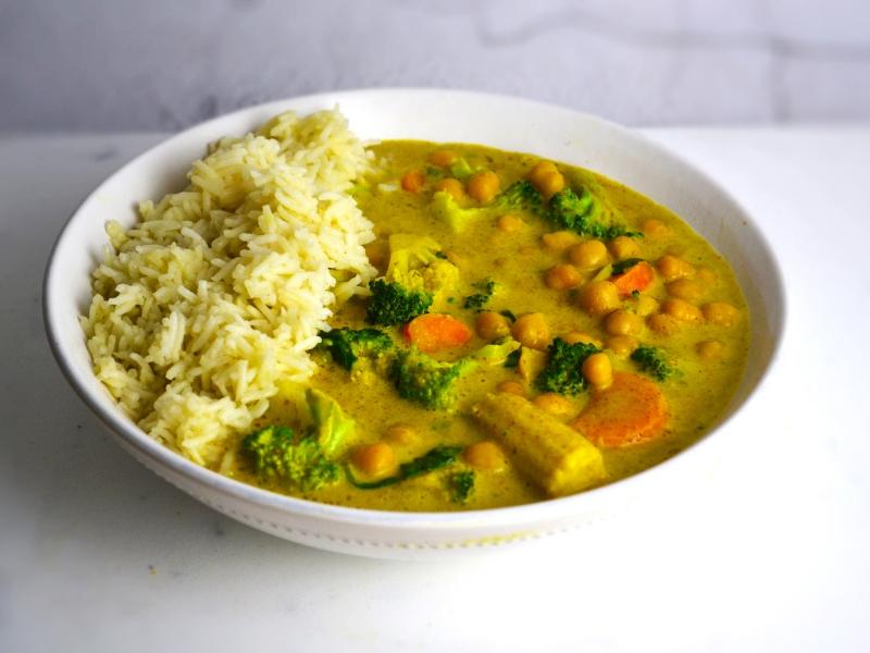 Ricette Verdure Vegane.Curry Di Ceci E Verdure Ricette Vegane E Vegetariane